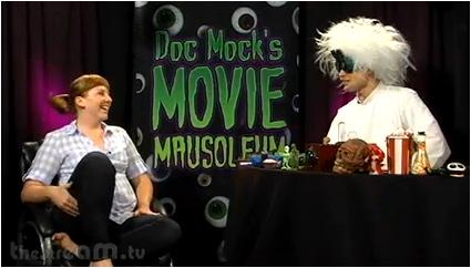 Doc Mock and guest Amanda Sitko enjoy some cheesy cinema gold!